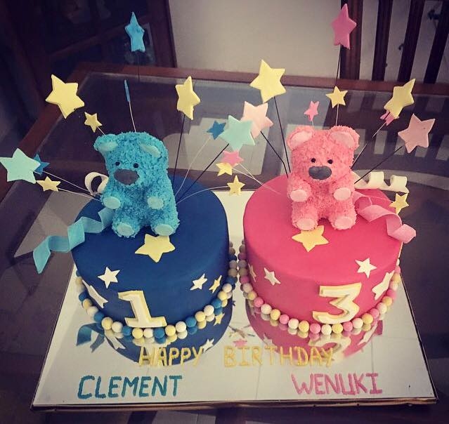 Teddy Bear Themed Cake for Twins by Cake Gallery