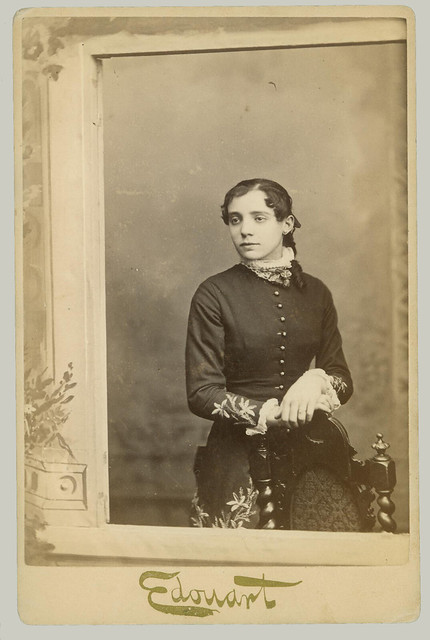 Cabinet Card woman and chair