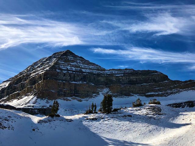 Timpanogos Peak from Timpooneke trail.
