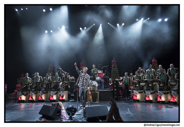 Brian Setzer Orchestra performing their Rockin' Christmas Show at the Microsoft Theater in LA
