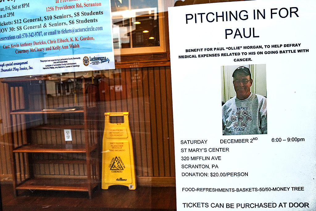 PITCHING IN FOR PAUL--Scranton
