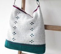 Crochet pattern: funky fifties crochet bag