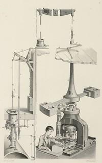 Boulton screw press engraving
