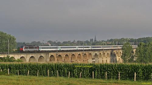 BB 26160 Train Intercité de nuit 4382 Nice-Strasbourg à Ballersdorf