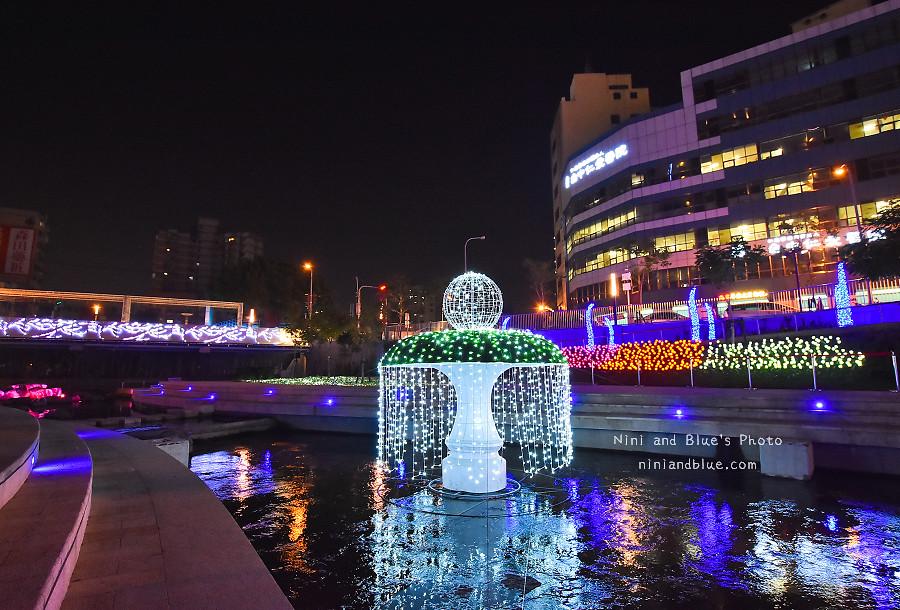 柳川藍帶水岸.聖誕節.台中景點16