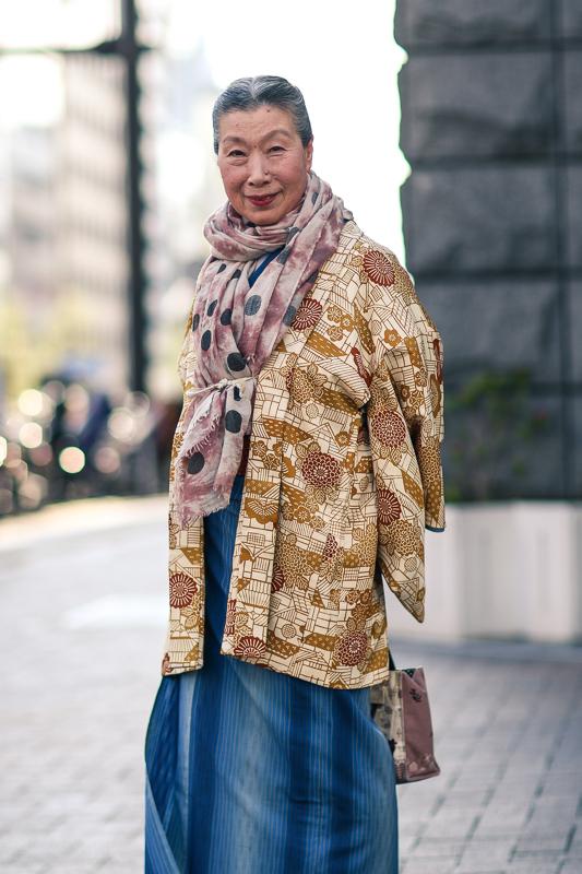 Old woman in kimono