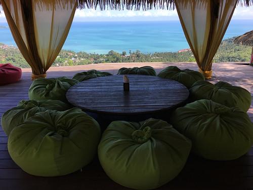 今日のサムイ島 12月8日 晴れの日は高台からシービュー@ジャングルクラブ
