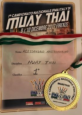 alessandro mastromarino campione italiano Muay Thai Light