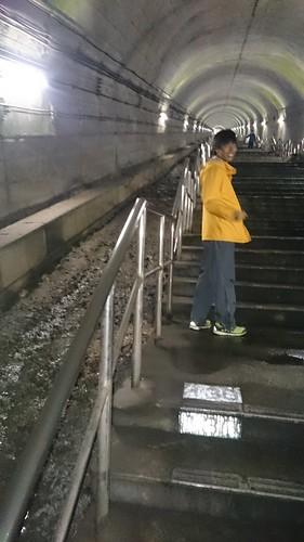 土合駅でグリコ