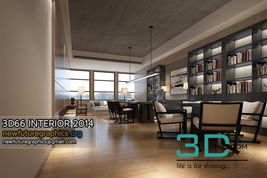 66  3Dsmax Scene Offices Interiors Free Download - 3D Mili