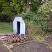 TIMS Mill Tour 2017 UK - Leeds - Thwaite Putty Mills - Garden with air raid shelter-9806