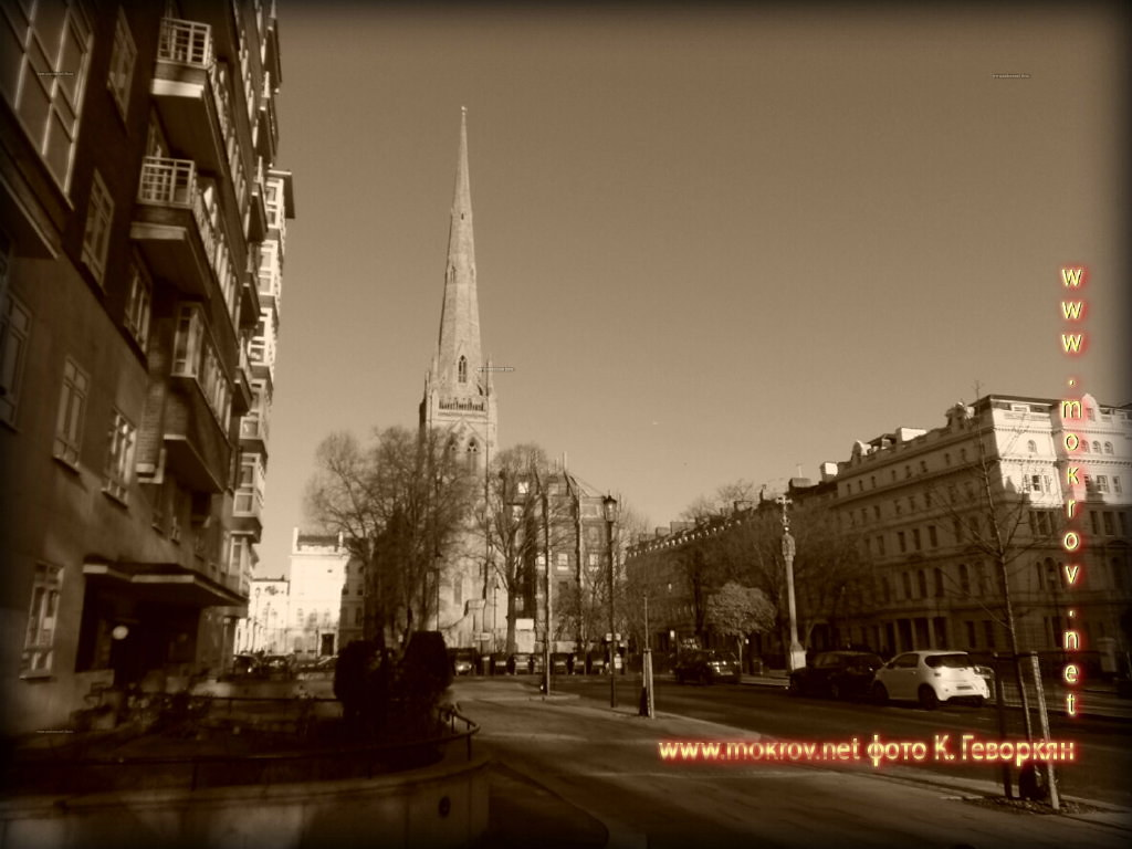 Улица Ланкастер Город Лондон фотозарисовки