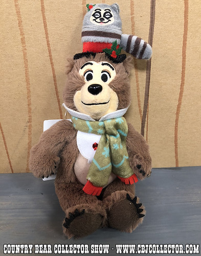 2017 Tokyo Disneyland Jingle Bell Jamboree Henry Mini Plush - Country Bear Collector Show #127