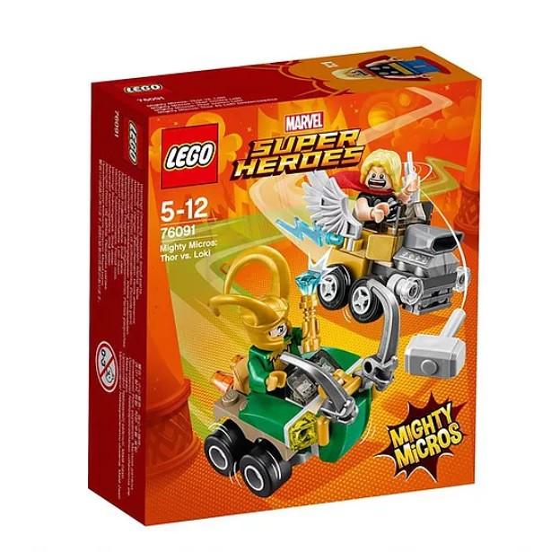 76091 Mighty Micros Thor vs. Loki
