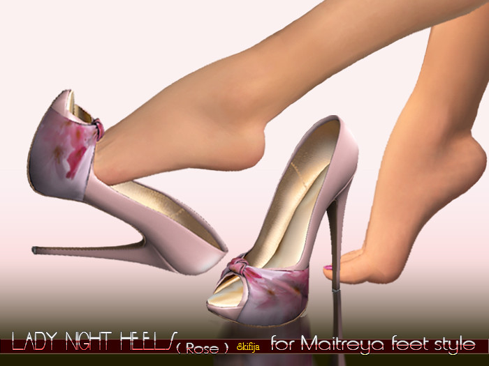 -SKIFIJA- Lady Night(Rose) heels for Maitreya feet style