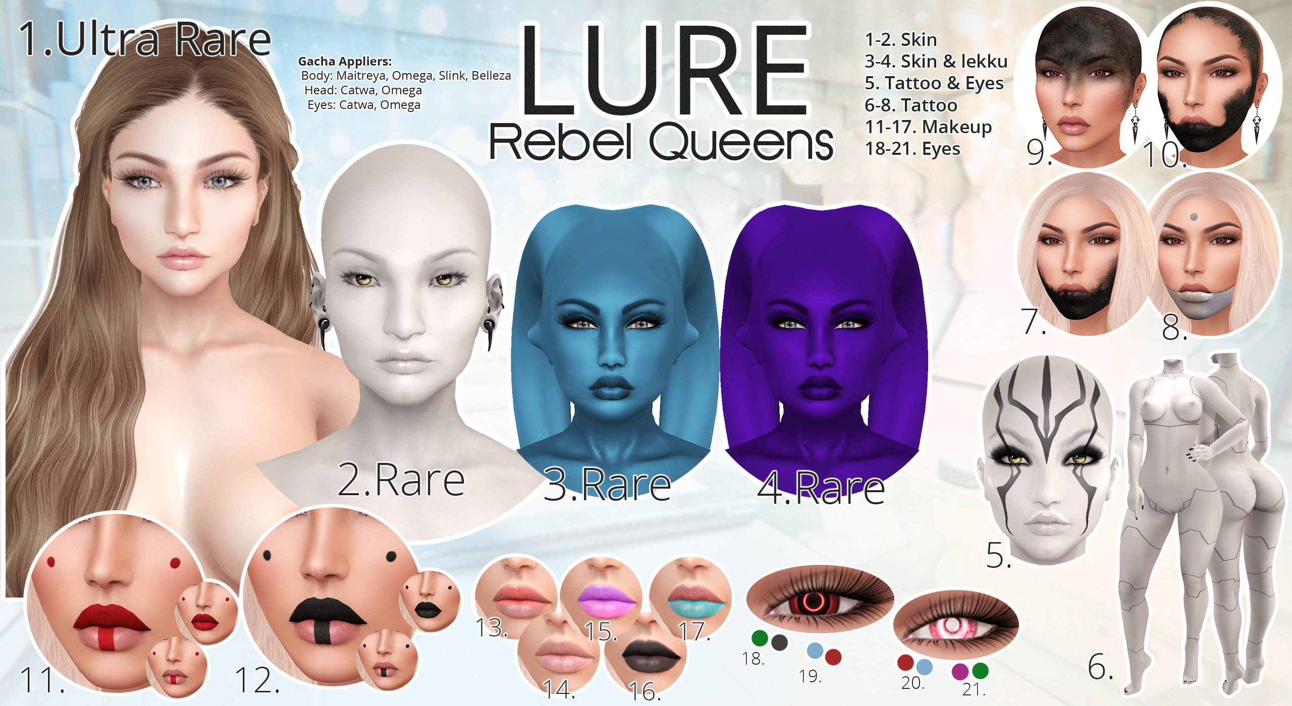 LURE: Rebel Queens Gacha
