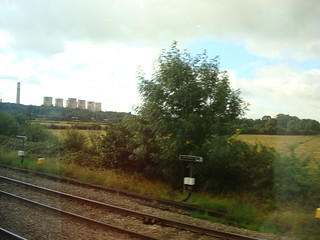 View of Ratcliffe-on-Soar power station from an East Midlands Trains service on the Midland Main Line.