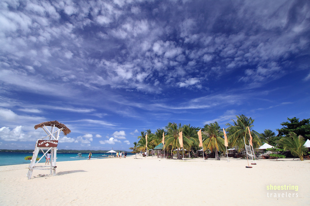 clouds over Virgin Island's white sand beach