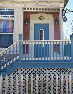 A welcoming front door, Cherryfield, Maine