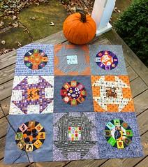 Beginnings of a Halloween quilt