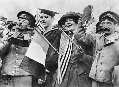 Armistice Day, Paris, 11 November 1918.