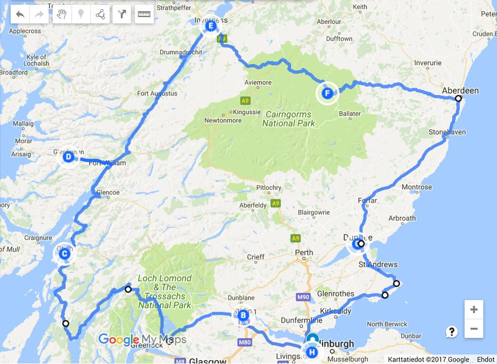 Skotlanti kartta