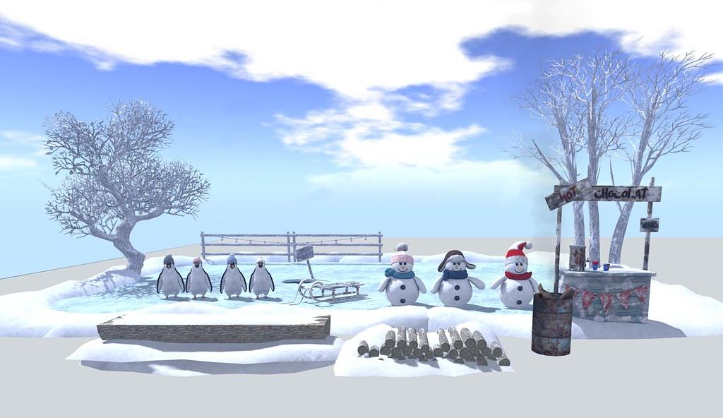 MOoH! Snow scene gacha landscape