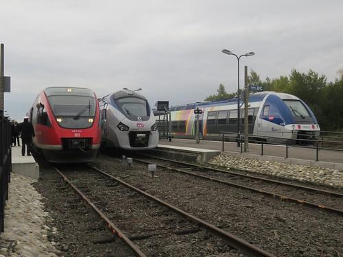 DB 643 514 & SNCF 83563 + 76572 Gare de Wissembourg