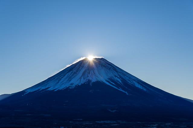 富士山より日の出@東屋