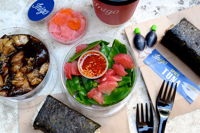 Lunch from Inigo, Soho #sushi #lunch #london #soho #handrolls | www.rachelphipps.com @rachelphipps
