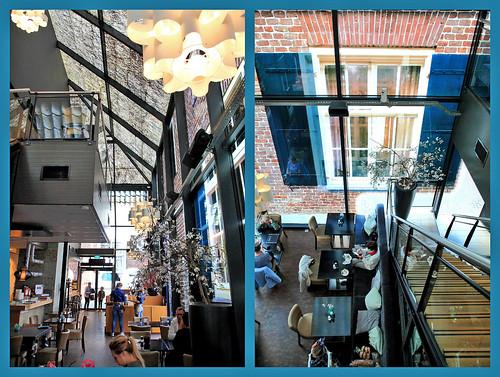 Un petit café dans la ferme de verre, Schijndel, Brabant-Septentrional, Pays-Bas