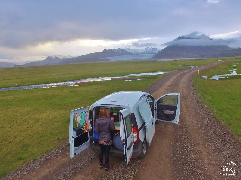 Hiring a campervan in Iceland – Go Campers Iceland review - Campervan stop for dinner