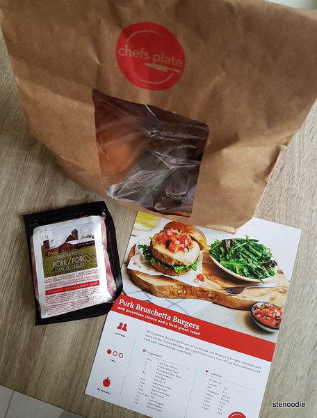 Pork Bruschetta Burgers package