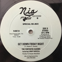 THE FANTASTIC ALEEMS:GET DOWN FRIDAY NIGHT(LABEL SIDE-B)