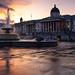 Trafalgar Square sunset