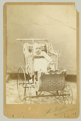 Cabinet Card small child in stroller