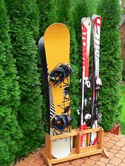 Stojan na lyže a snowboardy 2+ 2 - titulní fotka