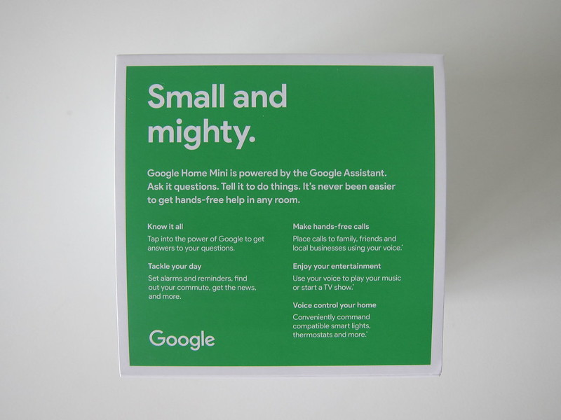 Google Home Mini - Box Back
