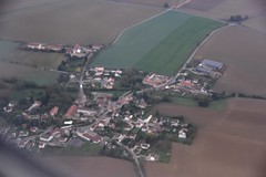 French village as we approach Paris airport