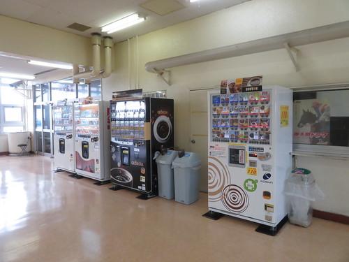 金沢競馬場の自動販売機