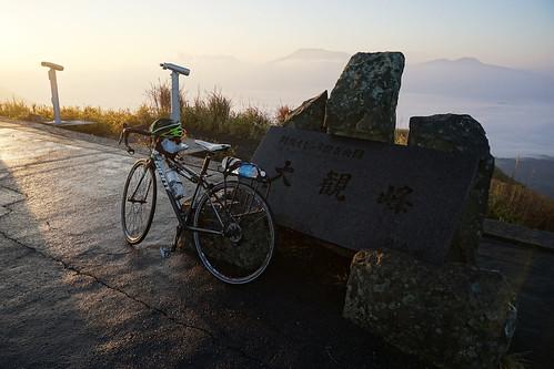 九州とはいえさすがに寒かった大観峰
