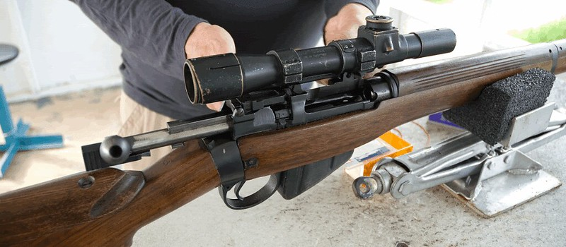 Installation scope mount sur une Lee Enfield 24347561168_aab080d392_c