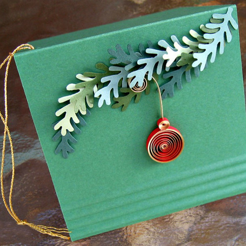 Christmas Gift Card with Quilled Ornament
