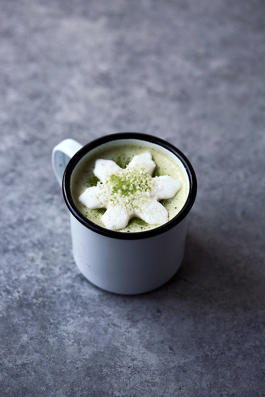 Matcha White Hot Chocolate with Matcha Marshmallows {Paleo w/ Keto Options}