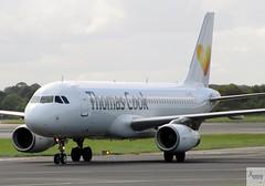 Thomas Cook (by Avion Express) A320-233 LY-VEI taxiing at MAN/EGCC