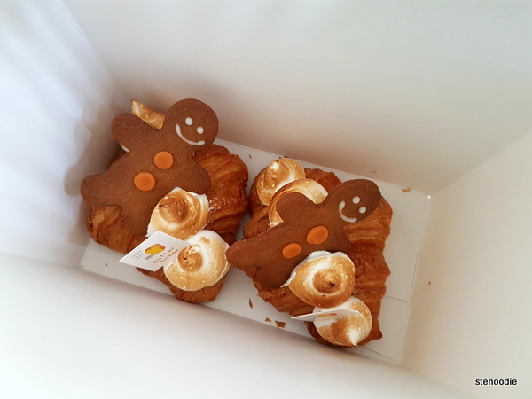 Gingerbread Man Croissants in box