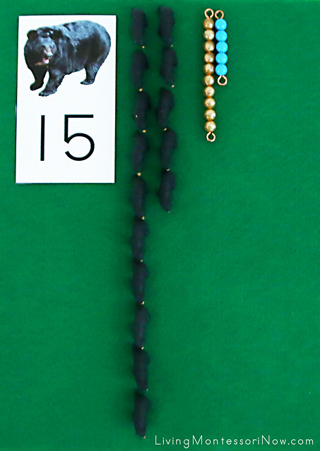 Layout for Bear Number Cards, Miniature Bears, and Bead Bars