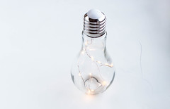 A bulb with lights inside