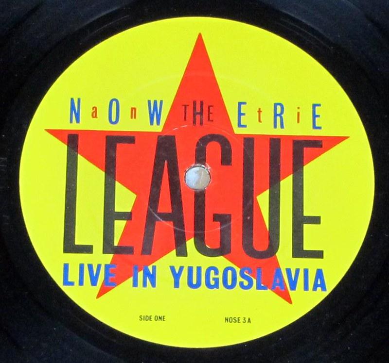 "ANTI-NOWHERE LEAGUE LIVE IN YUGOSLAVIA ORIG I.D. 12"" LP VINYL"