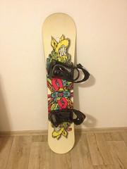 Snowboard s vázáním - titulní fotka